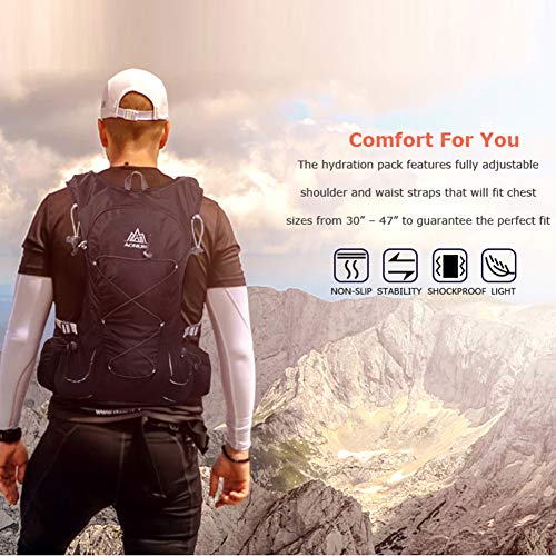 Amazon.com : AONIJIE 15L Outdoor Hydration Pack Ultra Trail Lightweight Running Vest Marathon Backpack with 3L Water Bladder, First Aid Blanket, ...