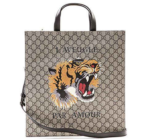 Wiberlux-Gucci-Unisex-Tiger-Detail-Real-Leather-Tote-Bag