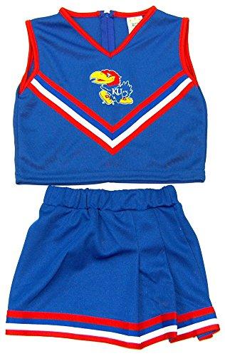 Little King NCAA Kansas Jayhawks Two Piece Cheer Dress, Size 6, Blue
