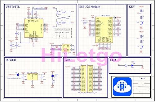 HiLetgo ESP-WROOM-32 ESP32 ESP-32S Development Board 2 4GHz Dual-Mode WiFi  + Bluetooth Dual Cores Microcontroller Processor Integrated with Antenna RF