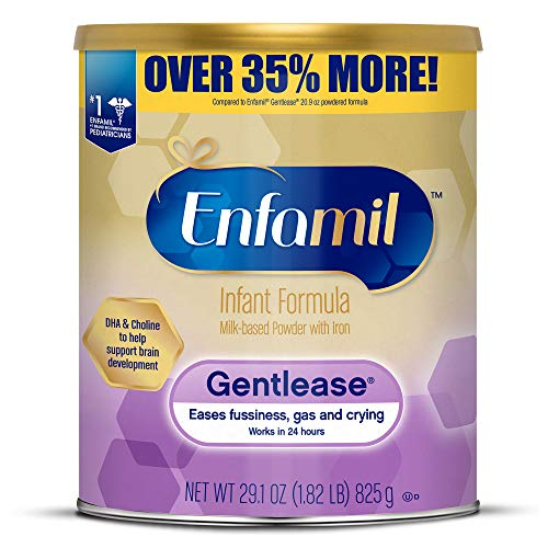 Enfamil Gentlease Sensitive Baby Formula Gentle Milk Powder, 29.1 ounce - Omega 3 DHA, Probiotics, Iron & Immune & Brain Support