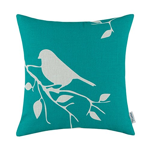 CaliTime Throw Pillow Cover Vintage Birds Branches, 18 X 18
