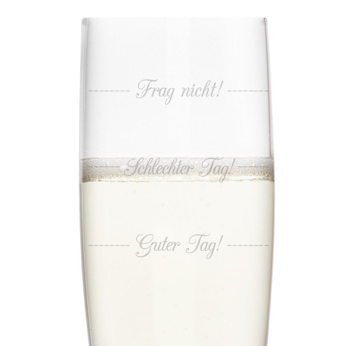 KIXY Sektglas von Leonardo Geschenk Gravur Geburtstag Hochzeit Schlechter Tag Guter Tag Frag nicht!