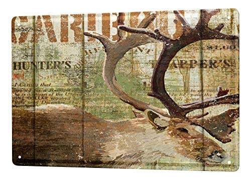 Regina Sharp Metal tin Sign World Tour elk Hunting 8 x 12 Vintage Wall Decor in The bar ()