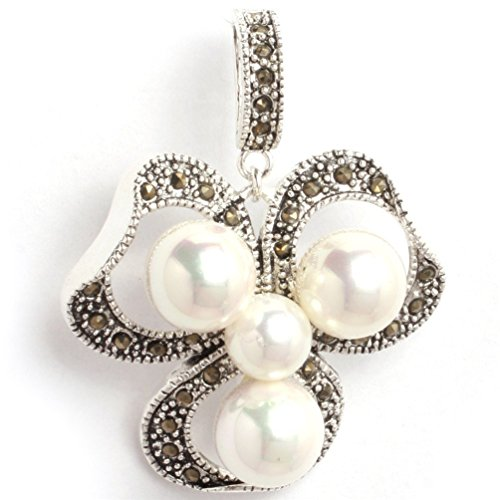 Shell Flower Pendant Bead - 5