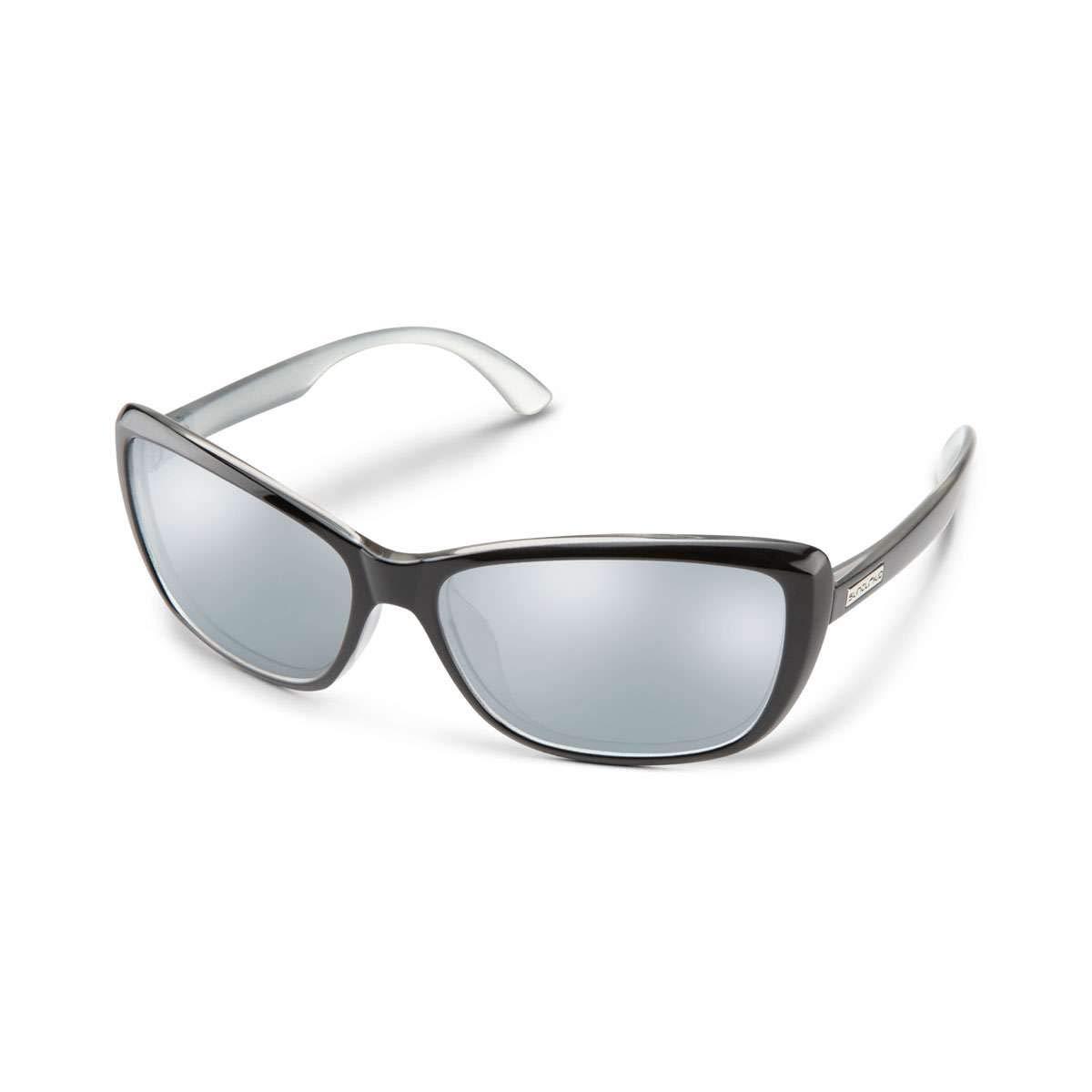 Suncloud レディース  Black Silver Bp/Silver Mirror B07MTQ8JG4