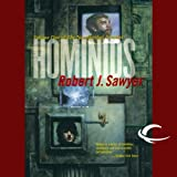 Front cover for the book Hominids by Robert J. Sawyer
