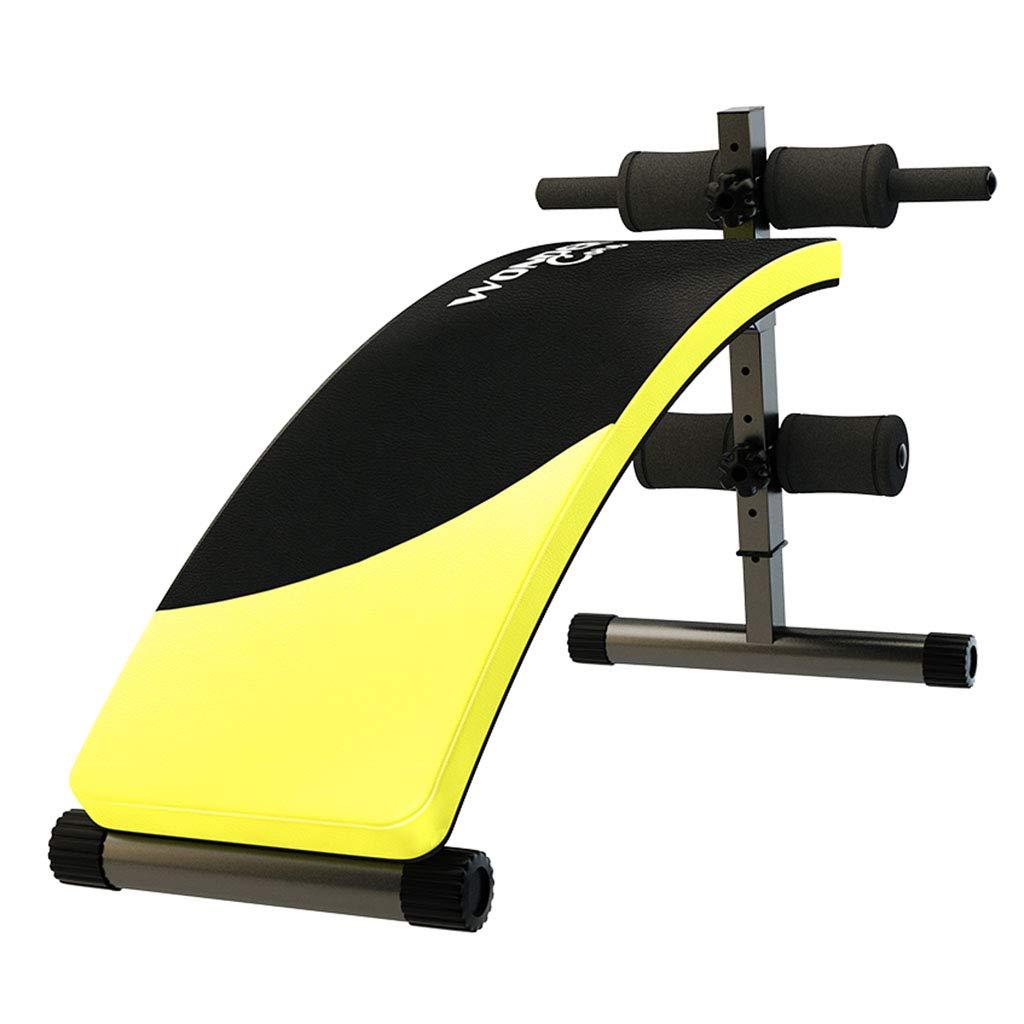 Olympia-Hantelbänke Sit-up-Board-Multifunktions-Heimfitnessgeräte Bauchnetz Luxus-Bauch-Board-Bauch-Ausrüstung (Farbe : Gelb, Größe : 150  41  75cm)