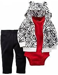 De Carter Baby Girls '3 piezas chaqueta de punto Set (bebé), 24 meses, Tinta manchas