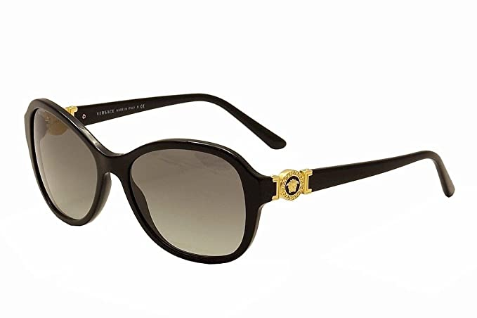 331257f5c60a Image Unavailable. Image not available for. Colour: Versace VE4262  Sunglasses-GB1/11 Black (Gray Gradient ...