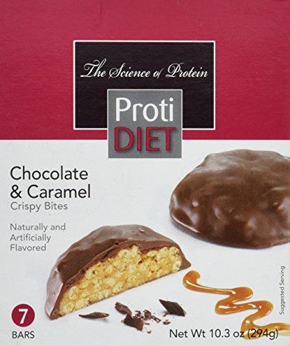 Proti Diet Chocolate & Caramel Crispy Bites-7 Bars, 10.3 (Diet Bar Chocolate)