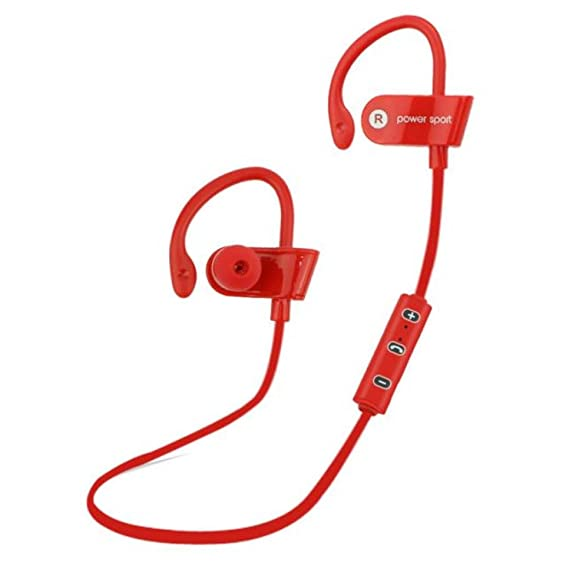 Bestpriceam New Bluetooth Ear Hook Wireless Sports Stereo Waterproof Headset Earphone 1PC (Red 2)