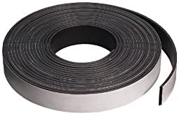 Magnet Tape Adhesive Backed , Flexible Magnetic 1/2 Inch X 25 Foot Roll