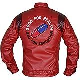 MSHC Men's Akira Manga Faux Leather Jacket Large Red