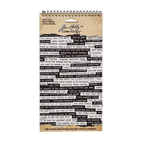 Black//White TH93193 8.25 x 4.25 Inch Sheet Size 296 Stickers Small Talk Stickers by Tim Holtz Idea-ology