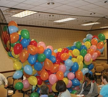 Balloon Drop System, Holds 1000 9'' or 500 11''-22 1/2' Wide x 4 1/2'Diameter. by Burton & Burton