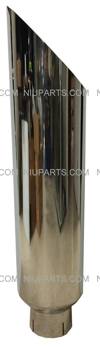 8 Polished Stainless Exhaust Stack Smokers 5 ID Inlet 36 Long with Clamp