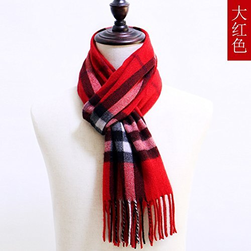 DIDIDD Sciarpe in lana sciarpa sciarpe donna sciarpa in autunno e inverno  sciarpa plaid scialle doppio f0abe45a795a