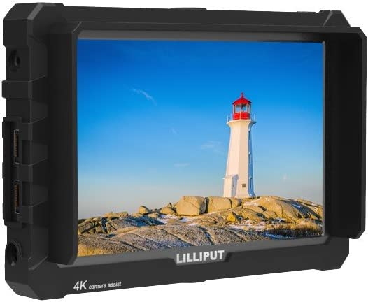 LILLIPUT A7S 7 1920x1200 IPS Screen Camera Field Monitor 4K HDMI Input Output Video for DSLR Mirrorless Camera Sony A7S II A6500 Panasonic GH5 Canon 5D Mark IV DJI Ronin M Black case Exclusively