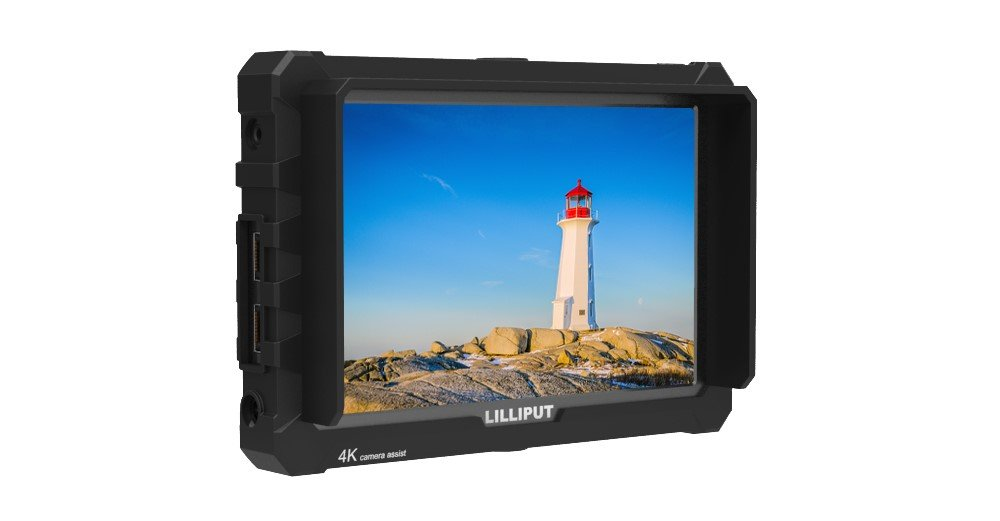 LILLIPUT A7S 7''1920x1200 IPS Screen Camera Field Monitor 4K HDMI Input output Video For DSLR Mirrorless Camera SONY A7S II A6500 Panasonic GH5 Canon 5D Mark IV DJI Ronin M BLACK case exclusively by Lilliput