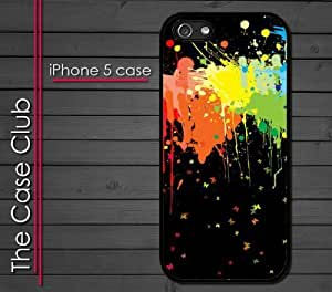 iPhone 6 4.7'' (New Color Model) Rubber Silicone Case - Paint Splatter Black Mixed Colors