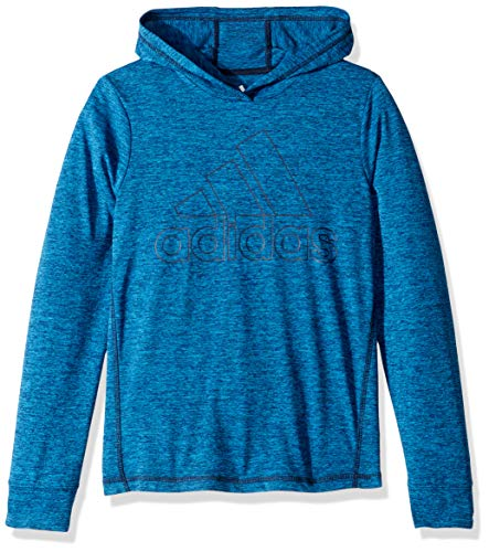 adidas Boys' Little Athletic Pullover Hoodie, Blue/Navy, - Athletic Pullover Adidas