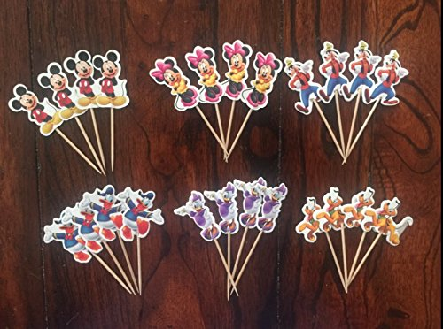 Mickey Mouse Clubhouse Cupcake Toppers Birthday Party Supplies