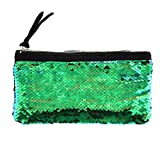 Clearance! Women Make-up Bag Double Color Sequins Coin Cards Holder Purse Wallet Pencil Pouch (N)