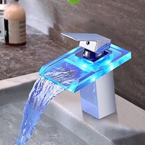 Grifo de baño monomando con acabado cromado, de Auralum, Model-j ...