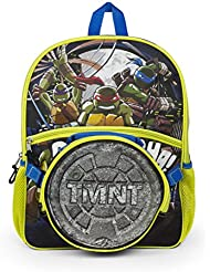 Teenage Mutant Ninja Turtle Silver 16 inch Backpack with Lunch Kit for Boys