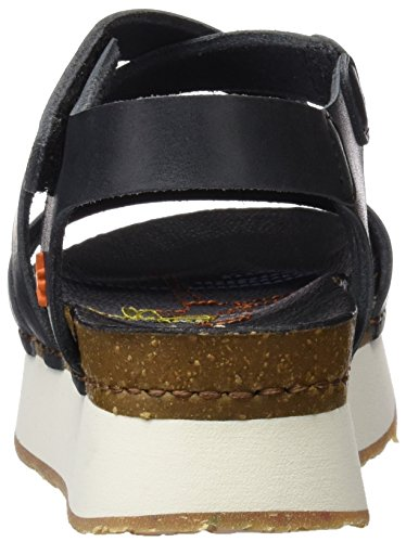 Sandali Art Mykonos black Con Nero Piattaforma Mojave Donna 0587 qwOwZg