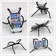 Efanr® Universal Multi-function Portable Spider Flexible Grip Smart Phones GPS Car Bicycle Bike Desk Plane Cup Book Support Cell Mobile Phone Holder Hanging Mount and Stand for iPhone 4/4S/5/5S/6 Samsung Galaxy Note 4 3 2 S5 S4 S3 HTC Nokia LG MOTOROLA SONY MP4 Andriod (Black)