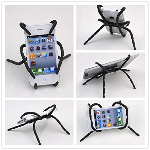 (Rienar Universal Multi-Function Portable Spider Flexible Grip Holder for Smartphones and Tablets)