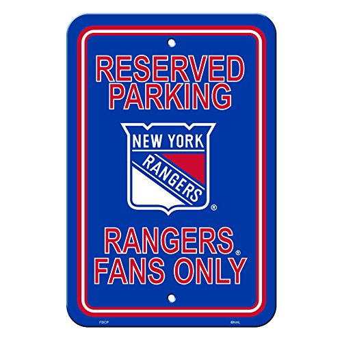 NHL Authentic Reserved Parking Sign, 12 x 18 Inch - New York Rangers ()
