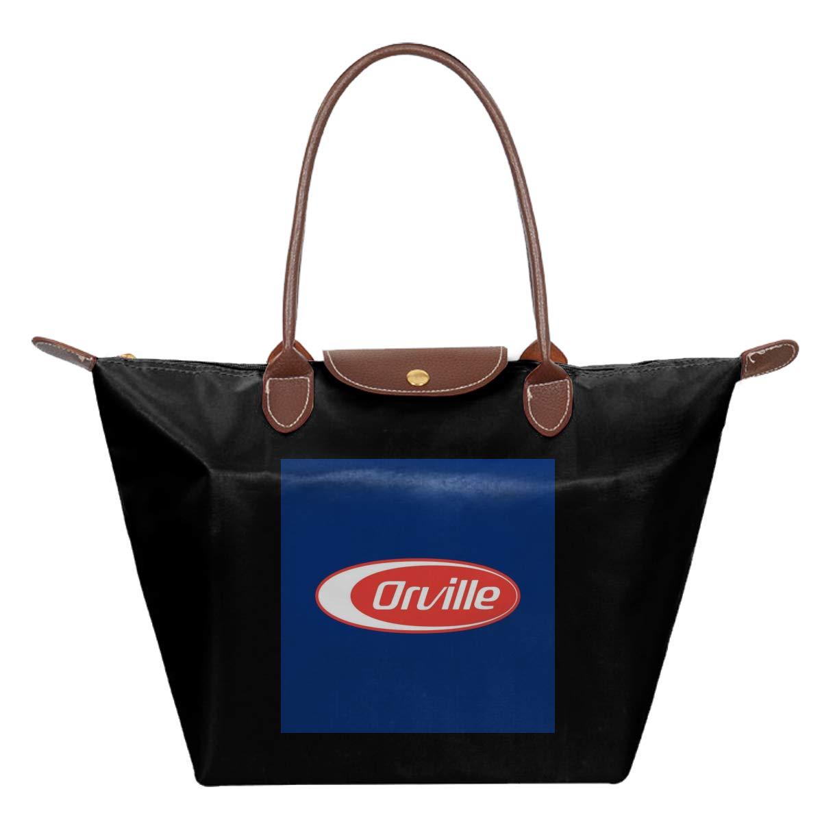 Orville Barilla Logo Mix Waterproof Leather Folded Messenger Nylon Bag Travel Tote Hopping Folding School Handbags