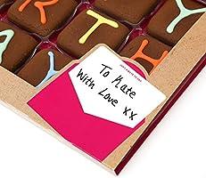 Galletas de chocolate glaseadas de Feliz Cumpleaños para regalar