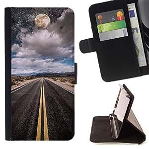 Momo Phone Case / Flip Funda de Cuero Case Cover - Luna Cielo Nocturno Libertad de coches - Sony Xperia Z3 Compact