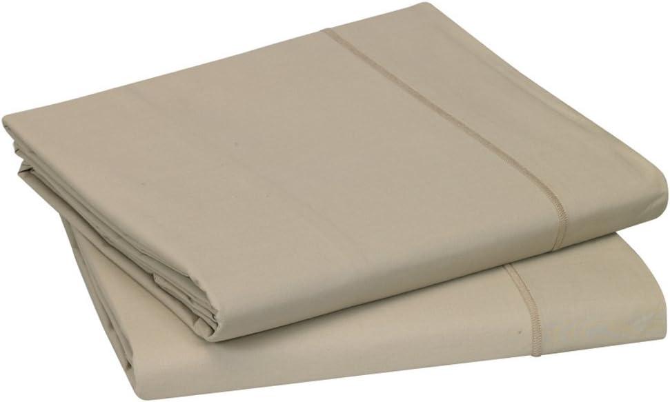 Blanc des Vosges Uni 57 Fils Drap Rose 120x190 cm Coton