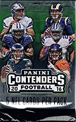 2016 Panini Contenders Football Hobby 5 Card Pack (Sealed) (Random)