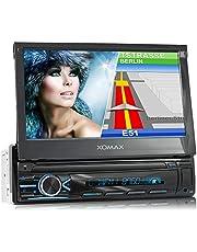 """XOMAX XM-VN745 autoradio met Mirrorlink I GPS navigatie I Bluetooth I 7"""" / 18 cm touchscreen display I RDS, USB, AUX I aansluitingen voor achteruitrijcamera en stuurwielafstandsbediening I 1 DIN"""