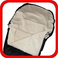 Baby Universal Fußsack, 100% Lammwolle, schwarz
