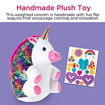 Creativity for Kids Sequin Pets Stuffed Animal - Sparkles The Unicorn Plush Toy: Toys & Games