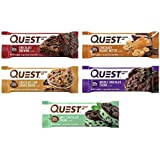 Quest Nutrition Protein Bar, Chocolate Lovers Variety Pack, High Protein, Low Carb, Gluten Free, Soy Free, Keto Friendly, 12 Count