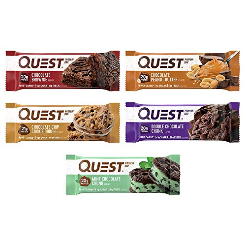 (Quest Nutrition Protein Bar, Chocolate Lovers Variety Pack, High Protein, Low Carb, Gluten Free, Soy Free, Keto Friendly, 12 Count )