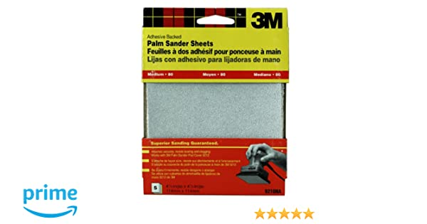 3M 9210DC-NA Medium Adhesive Backed Palm Sander Sheets - Power Grinder Accessories - Amazon.com