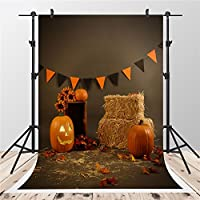 5x7ft-1.5x2.2m Brown Photography Backdrops Pumpkin Photo Background for Shooting Halloween Backdrop Shooting