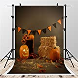 5x7ft-1.5x2.2m Brown Photography Backdrops Pumpkin Photo Background for Shooting Thanksgiving Backdrop (style 1)