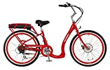 Pedego Boomerang Red with White Wall Tires 36V 15Ah