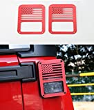 Automotive : Opar Tail light Cover for 07-17 Jeep JK Wrangler & Wrangler Unlimited - Pair ( Red,Old Glory)