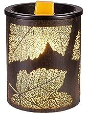 N/W Ijzer Elektrische Wax Smelt Warmer Wierookbrander Wax Taart Brander Geur Kaars Warmer voor het Verwarmen van Geurkaarsen, Wax Melts- Spa, Aromatherapie (esdoornblad)